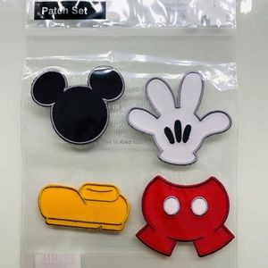 Disney Parks Mickey Iron on Patch Set.